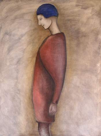 "Dreamer - click to enlarge - copyright 2007 Florence Rittner - size 30""x40"""